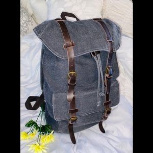 Tommy Hilfiger Large Gray Canvas Backpack 🌿